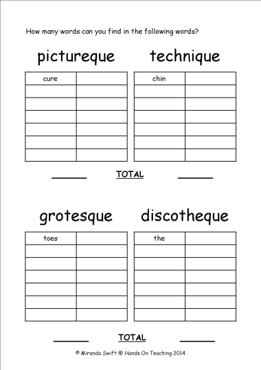 math worksheet : hands on teaching : Syllable Division Worksheets